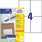 AVERY Zweckform Universaletiketten 3483 Ultragrip Weiss DIN A4 105 x 148 mm 100 Blatt à 4 Etiketten