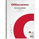 Office Depot Collegeblock DIN A4+ Kariert Weiß, Rot 5 Stück à 80 Blatt