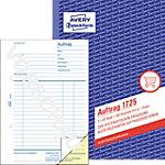 AVERY Zweckform Auftragsbuch 1725 Weiß, Gelb DIN A5 Perforiert 2 à 40 Blatt