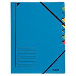 Leitz Ordnungsmappe 39070035 A4 Blau Karton 7 Fächern 24,5 x 32 cm