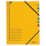 Leitz Ordnungsmappe 39070015 A4 Gelb Karton Mit 7 Fächern 24,5 x 32 cm