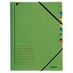 Leitz Ordnungsmappe A4 Grün Karton Mit 7 Fächern 24,5 x 32 cm
