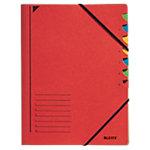 Leitz Ordnungsmappe A4 Rot Karton Mit 7 Fächern 24,5 x 32 cm