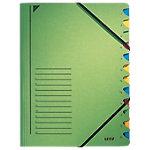 Leitz Ordnungsmappe A4 Grün Karton Mit 12 Fächern 24,7 x 32 cm