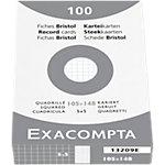 Exacompta Karteikarten Bristol DIN A6 100 Karten Weiß 10,5 x 14,8 cm 100 Stück