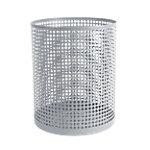Foray Abfalleimer Mesh Metall, Kunststoff Grau 24 x 29 cm