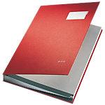 Leitz Unterschriftsmappe 5700 25 Rot Gelocht DIN A4