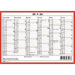 Simplex Wandkalender DIN A5 2021 Mehrfarbig