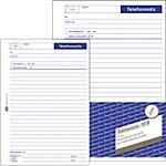 AVERY Zweckform Gesprächsnotizblock 1019 Blau DIN A5 Perforiert 50 Blatt