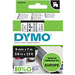 DYMO Schriftband D1 9 mm x 7 m Schwarz, Transparent