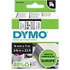 DYMO D1 Schriftband 40910 Schwarz auf Transparent 9 mm x 7 m
