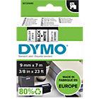 DYMO D1 Schriftband 45017 Schwarz auf Weiss 9 mm x 7 m