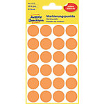 AVERY Zweckform Markierungspunkte 3173 Leuchtorange 18 x 18 mm 4 Blatt à 24 Etiketten