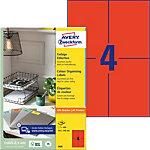 AVERY Zweckform 3456 Universal Etiketten A4 Rot 105  x  148 mm 100 Blatt à 4 Etiketten