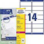 AVERY Zweckform Adressetiketten L7163 250 Ultragrip Weiss DIN A4 99,1 x 38,1 mm 250 Blatt à 14 Etiketten