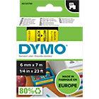 DYMO D1 Schriftband 43618 Schwarz auf Gelb 6 mm x 7 m