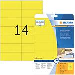 HERMA Farbige Etiketten 5058 Gelb DIN A4 105 x 42,3 mm 20 Blatt à 14 Etiketten