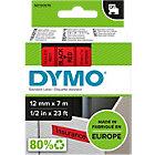 DYMO D1 Schriftband 45017 Schwarz auf Rot 12 mm x 7 m