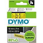 DYMO Schriftband 45018 12 mm x 7 m Schwarz, Gelb