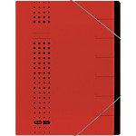 ELBA Ordnungsmappe chic DIN A4 Rot Karton 25 x 1,2 x 31,5 cm