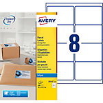 Avery J8165 25 Universaletiketten Spezial Weiß 99,1 x 67,7 mm 8 Blatt à 25 Etiketten