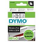 DYMO D1 Schriftband 45800 Schwarz auf Transparent 19 mm x 7 m