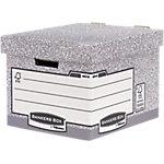 BANKERS BOX System Archivboxen Grau, Weiß 33,5 x 40,4 x 29,2 cm 10 Stück