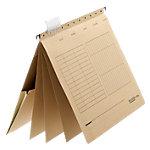 Falken Mehrfachhängehefter kaufmännische Heftung UniReg DIN A4 Braun Manilakarton