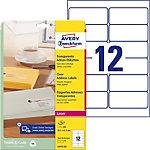 AVERY Zweckform L4772 25 Adressetiketten A4 Transparent 99.1 x 42.3 mm 25 Blatt à 12 Etiketten