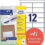 AVERY Zweckform Universaletiketten 4781 Ultragrip Weiss DIN A4 97 x 42,3 mm 30 Blatt à 12 Etiketten