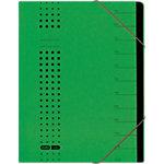 ELBA Ordnungsmappe chic DIN A4 Grün Karton 25 x 1,5 x 31,5 cm