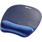 Fellowes Handgelenkauflage mit Mauspad Memory Foam Blau