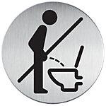 DURABLE Piktogramm WC   Bitte setzen 8.3 cm