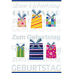 Bsb Obpacher Geburtstagskarte Present Spezial Weiß 10 Stück