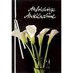 Bsb Obpacher Trauerkarte White Calla mit Band Spezial Creme 3 Stück