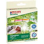 edding Recycling Textmarker EcoLine 24 5 mm Farbig sortiert 4 Stück
