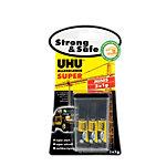UHU Sekundenkleber Minis Strong & Safe Transparent 3 Stück à 1 g