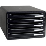 Exacompta Schubladenbox Big Box Plus A4+ 270 Blatt Schwarz 35.5 x 27 x 27.1 cm
