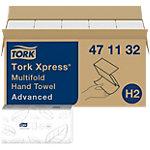 Tork Falthandtücher H2 Xpress Advanced 2 lagig M falz Weiss 20 Stück à 190 Blatt