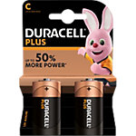 Duracell C Alkali Batterien Plus Power MN1400 LR14 1,5 V 2 Stück