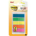 Post it Index Haftstreifen Farbig assortiert Blanko 1.19 x 4.32 cm 100 Stück