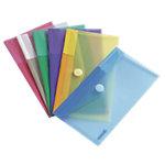 Tarifold Dokumententasche Scheckheftformat DIN A4 Mehrfarbig Polypropylen 6 Stück