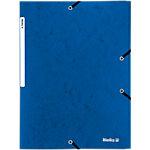 Biella Gummibandmappe A4 Blau Pappe 23.5 x 32 cm