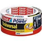 tesa extra Power Verpackungsklebeband Universal 50 mm x 25 m Weiss