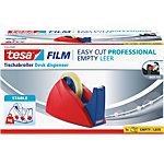 tesa Klebeband Abroller Easy Cut Professional Rot, Blau
