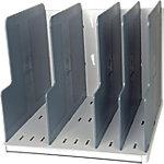 Exacompta Sortiersystem Modulotop Kunststoff Grau 29 x 30 x 25.5 cm 5 Trennplatten