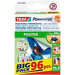 tesa Powerstrips Doppelseitiges Klebeband Poster Big Pack 0,045 m Weiß 96 Stück