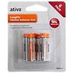Ativa AAA Alkali Batterien Longlife LR03 1,5 V 6 Stück