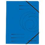herlitz Eckspannmappe DIN A4 Blau Pressspankarton mit Gummiband 24 x 31,8 cm