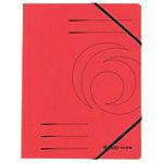 herlitz Eckspannmappe DIN A4 Rot Pressspankarton mit Gummiband 24 x 31,8 cm